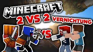 Vernichtung? - YouTuber Battle - 2 vs 2 - Minecraft PvP (Deutsch/German)