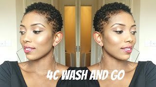 getlinkyoutube.com-Natural Hair 4C/TWA Wash and Go Routine