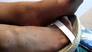 getlinkyoutube.com-Olesya's sexy legs tan dot