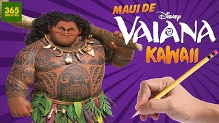 getlinkyoutube.com-COMO DIBUJAR A MAUI DE VAIANA KAWAII - Dibujos kawaii faciles en Español - How to draw Moana