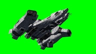 getlinkyoutube.com-Spaceship FlyBy- green screen