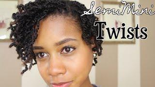 SemiMini Twists on Short Natural Hair