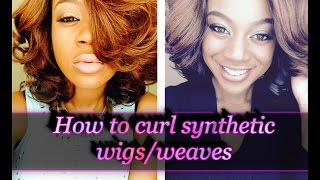 getlinkyoutube.com-HOW TO CURL.... SYNTHETIC.... *WIGS/WEAVES*