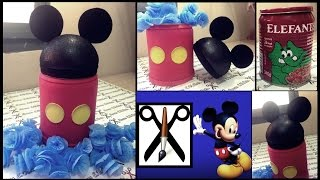 getlinkyoutube.com-Como fazer lembrancinha do Mickey em E.V.A utilizando lata de massa - Lucas E.V.Arts.