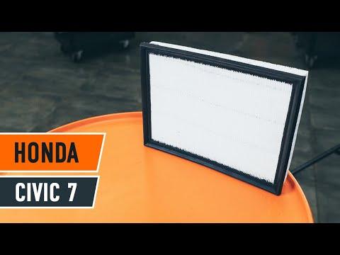 ... pakeisti variklio oro filtras Honda Civic 7 PAMOKA | AUTODOC