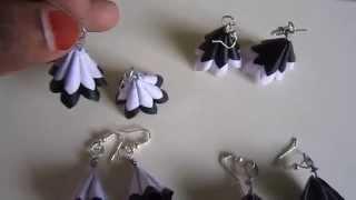 Handmade Jewelry - Paper Cone Earrings (Black & White)