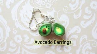 Kawaii Avocado Earrings Tutorial
