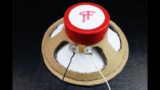 How to Make a Speaker at Home (Cardboard Speaker) - Easy width=