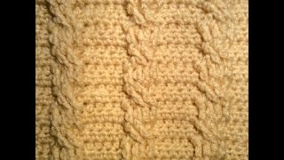 غرزه الضفيره بالكروشيه بشكلين مختلفين How to Crochet A Cable stitch