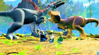 getlinkyoutube.com-LEGO Jurassic World Spinosaurus vs T. Rex Showdown, Jurassic Park 3