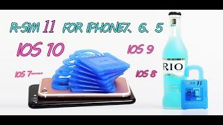 ★Rsim 11 Iphone unlock factory iOS 10.x  4g/3g for iPhone 5,5s,5c,5se,6,6P,6s,6sP,7,7P★