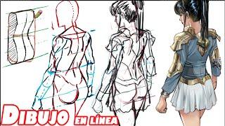 Como dibujar una figura de espalda, vista elevada