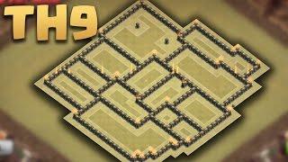getlinkyoutube.com-Clash of clans - Town Hall 9 (TH9) War Base Anti 3 star 2016 + Replays