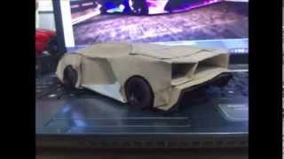 getlinkyoutube.com-Lamborghini Aventador PaperCraft
