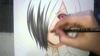 getlinkyoutube.com-Speed Drawing - Kirishima Touka (Tokyo Ghoul)