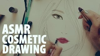 getlinkyoutube.com-ASMR Korean | 화장품으로 그림그리기 Drawing Facechart   (Binaural)