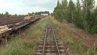getlinkyoutube.com-Узкоколейная железнодорожная линия в Лавассааре / Narrow gauge railway line in Lavassaare