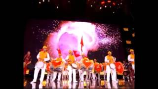 getlinkyoutube.com-Dhol Tasha - London -Wembley Stadium Dhol Tasha Performance