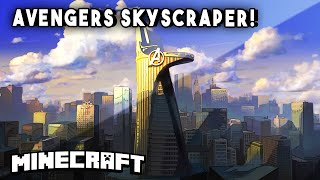 getlinkyoutube.com-Minecraft Skyscrapers - AVENGERS 2 TOWER! (Stark Skyscraper) || Minecraft Maps