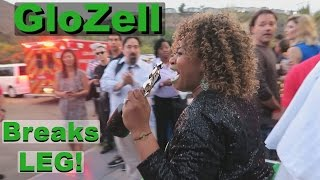getlinkyoutube.com-GloZell Breaks Leg at YouTube Space LA + CSUN Pool Party!