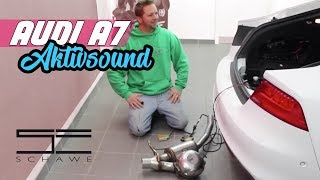 getlinkyoutube.com-Audi A7 Aktiv Sound Auspuffanlage mit Soundmodul von Eberspächer