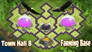 getlinkyoutube.com-Top 1 Th8 Best Farming Base 2016 New Update Town Hall 8 Clash of Clans