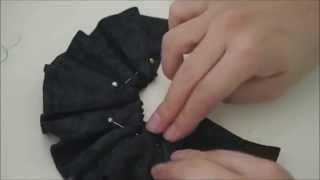getlinkyoutube.com-How to make doll outfit 27 Leather skirt & hairband
