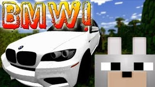 getlinkyoutube.com-Minecraft Mods - Crazy BMW Car 1.4.7 Review and Tutorial - Get all the Piggies in Town!