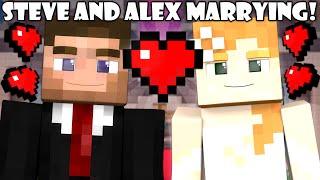 getlinkyoutube.com-If Steve and Alex were Married - Minecraft