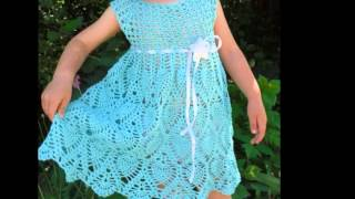 getlinkyoutube.com-Vestidos tejidos a crochet para niña