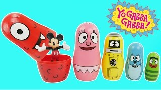 getlinkyoutube.com-Yo Gabba Gabba Stacking Cups Play Doh Surprise Eggs For Children Learn Colors Nesting Poupées Russes