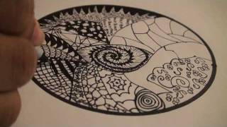 getlinkyoutube.com-Let's Draw - 001: How to Draw a Mandala with Zentangles - TCGames [HD]!