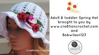 getlinkyoutube.com-Crochet Spring / Easter Hat Tutorial