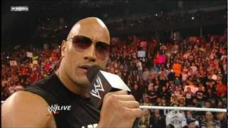 getlinkyoutube.com-The Rock Returns to Monday Night Raw HD 2/14/11 - Part 1