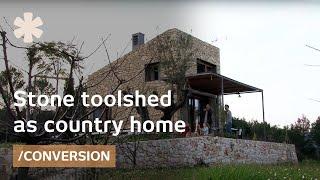 getlinkyoutube.com-Stone toolshed as timeless mediterranean tiny home (25m2)
