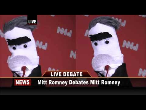 Mitt -V- Mitt Debate on (climate change ).