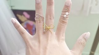 getlinkyoutube.com-DIY 3 Wire Rings (Spiral, Bow, and Heart)