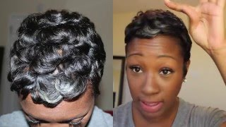 getlinkyoutube.com-Curly/Wavy Pixie | Short Hair Tutorial (Start to Finish)