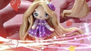 "getlinkyoutube.com-Clay Tutorial: Rapunzel from ""Tangled"""
