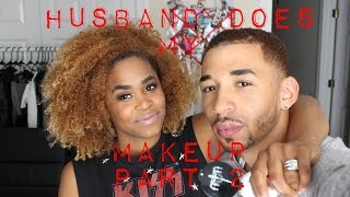 getlinkyoutube.com-Husband Does My Makeup Tag Video | Half and Half... How did he do?
