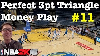 NBA 2K16 Triangle Offense Tutorial How to shoot 3 pt jump shot tips  #60