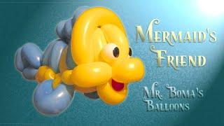 getlinkyoutube.com-Mermaid's Friend Fish Balloon Animal Tutorial (Balloon Twisting and Modeling #17)