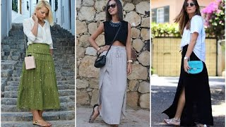 getlinkyoutube.com-Excelentes faldas de moda largas ♥