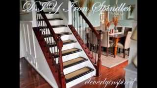 getlinkyoutube.com-DIY Iron Spindles: Staircase remodel