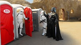 getlinkyoutube.com-Toilet 2016 STAR WARS PRANK !!  Stormtroopers attack !