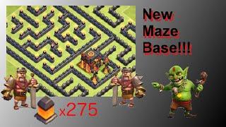 getlinkyoutube.com-NEW Fun Maze Base! Wins Trophies Too! - Clash Of Clans