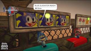 getlinkyoutube.com-Mario vs. Sonic - Arena - (LBW2) Crown Winner - LittleBigPlanet