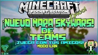 getlinkyoutube.com-Nuevo Mapa Team Skywars Minecraft Pocket Edition 0.12.1 Epico