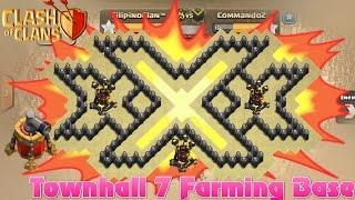 getlinkyoutube.com-Townhall 7 Awesome Triple xXx Farming Base | Th7 Epic Troll Base | 3 Airdefense and Air sweeper