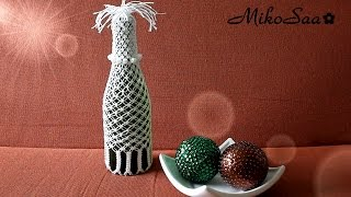 getlinkyoutube.com-DIY Botella Reciclada con Macrame / DIY Recycled Bottle with Macrame - MikoSaa